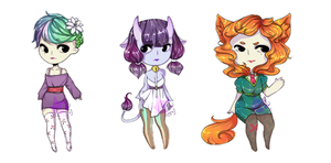 Kemonomimi Adopt Batch! [OPEN] 2/3 - 100p giveaway by ms-villeroy