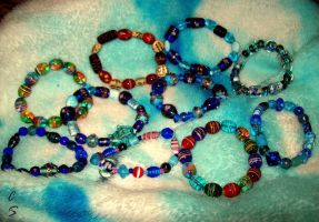 Glass Bracelets by GaaraGirl53