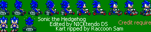 Sonic in Super Mario Kart v2 by CyberMaroon