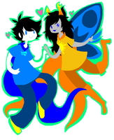 HS: John and Vriska by sariasong64