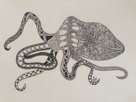 Zentangle #19 Octopus by Art-Ju