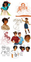 Mexican States Sketchdump by NerdyJones