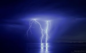 Lightning - Port Phillip Bay by flauel