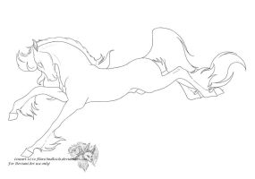 Free Stallion Lineart by FlareAndIcicle