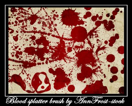 Blood splatter brush by AnnFrost-stock