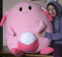 Chansey real size plush by chocoloverx3