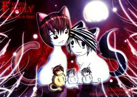 LightxL Family+Death Note+Yaoi by Ludra-Jenova