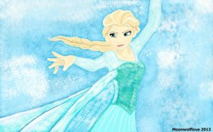 Elsa the snow queen by Moonwolflove