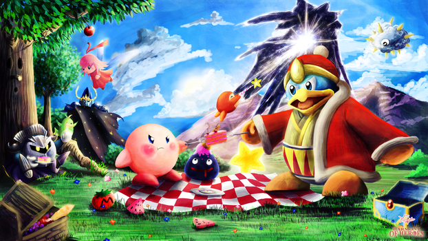 Harmony of Heroes: Kirby by onikafei