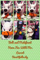Bolt and Maleficent with Mr. Carrot by BeautifulHusky