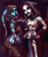 Aayla vs Asajj by quotidia