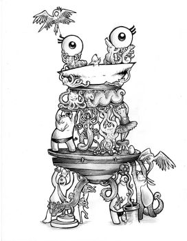 Monster made of little monsters by Cesaku