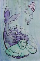 Rescued - The Little Mermaid by rachelillustrates