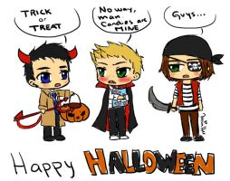 Supernatural Halloween by lemonpie-art