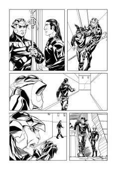 EarthSons issue 3 page 4 inks by DJLogan