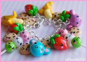 Kawaii Friends Charm Bracelet by bitterSWEETones