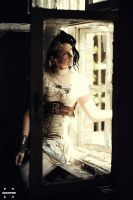 At the window .......... Steampunk by S-T-A-R-gazer
