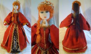 Art-Trade: OOAK Tudor Lady Cloth Doll by mihijime