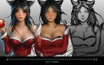 Ahri LoL - progress by Geleebroetchen