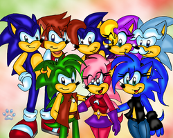 Hedgehog group by jayfoxfire
