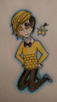 Human! Bill Cipher by MaybeBirdy