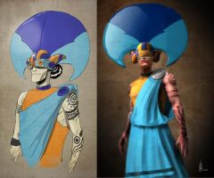 Masquerade Character Side by Side by feeesh