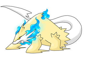 White Lion Pokemon by Smiley-Fakemon