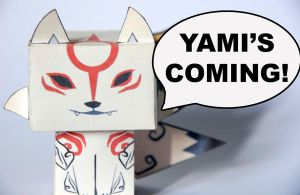 Okami cubeecraft - Yami's coming! by scarykurt