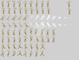 Sprite Dump Main Character by ObsidianWolph