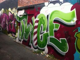 Alleyways 6 by PerthGraffScene