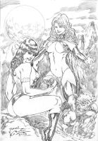 _Vampirella and Goblin queen by JardelCruz