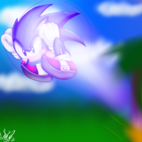 Sonic Homing attack by Mariatiger