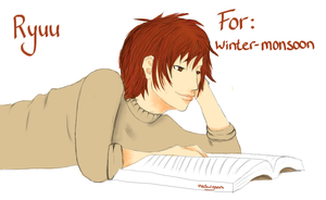 Ryuu (AT for winter-monsoon) (Day 34) by Hedwigs-art