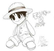 Luffy Plushie for Clarobell by KaizokuShojo