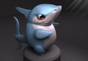 Sharky 3D by TheMoonMonkey