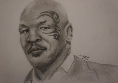 Mike Tyson - charcoal by DanArt0972