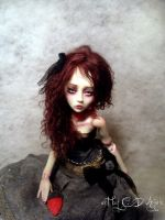 Twice Bitten BJD doll vampire by cdlitestudio