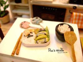 miniature kitchen : bento box by lovely301090