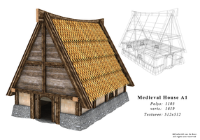 Medieval House A1 by DarkRaven1988