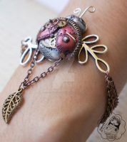 Clockwork Lady - Bracelet by colourful-blossom