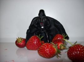 Darth Vader and strawberries by Hackashi