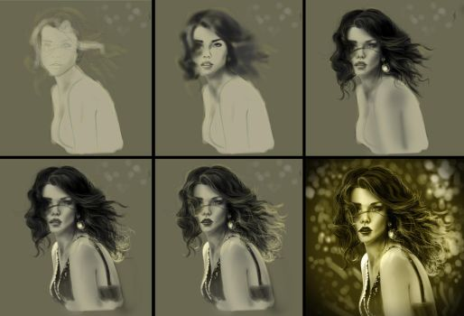 Model painting process by farooky