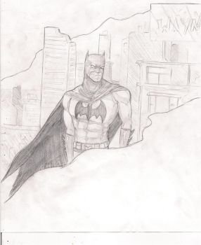 batman sketch by BlackHaystack