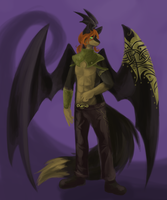 Commission: Tapewolf (Sydney) by mouseymachinations