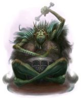 Troll Shaman by ScottPurdy
