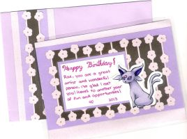Espeon Postcard by dragonwarriorsgalore