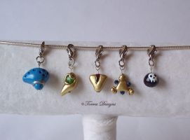 Spiritual Stones Ocarina OfTime Blast Charms ZELDA by TorresDesigns