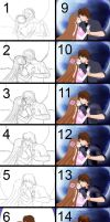 step by step - Romantic couple by Power-Excelsior