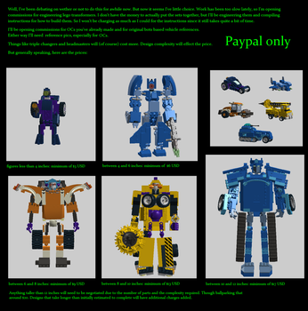 Lego Transformer Instruction Commissions by dinshino
