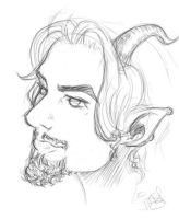 Satyr Study by UnionJacked